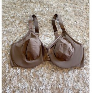Olga Brown Full Coverage Bra Size 38D
